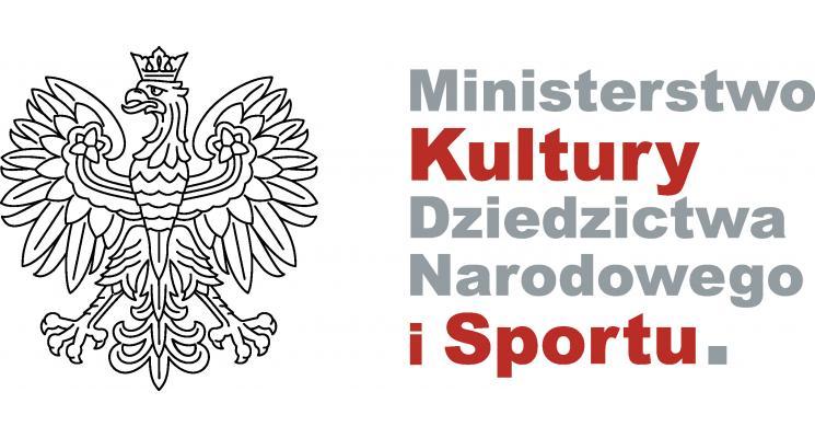 Logo Ministerstwa Kultury Dziedzictwa Narodowego i Sportu.